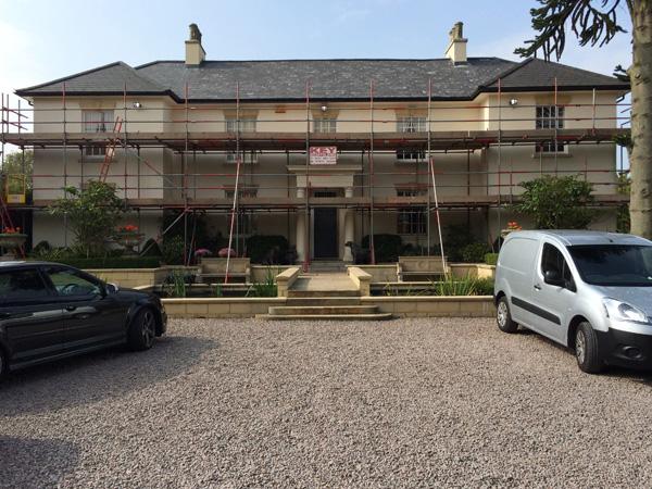 develeopment work on Burton Manor requiring scaffold hire Midlands