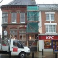 HSBC bank requires scaffolding for redevelopment in Hinckley Midlands