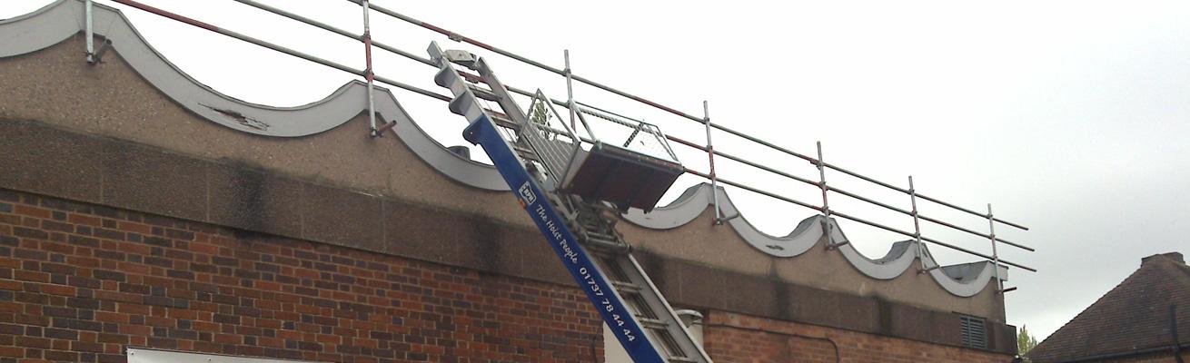 roof edge protection scaffolding hire Birmingham