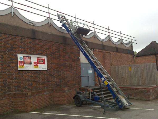 Roof Edge scaffolding in Birmingham West Midlands